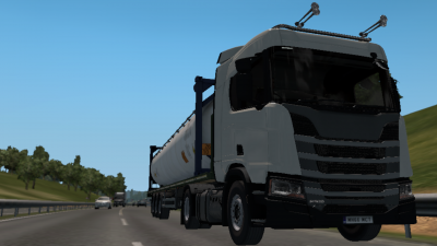 My Scania on its first job.